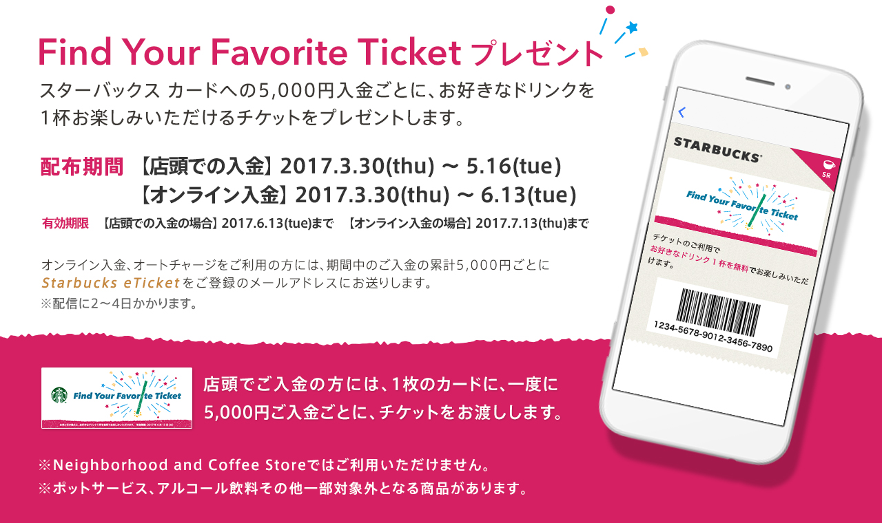 Find Your Favorite Ticket プレゼント