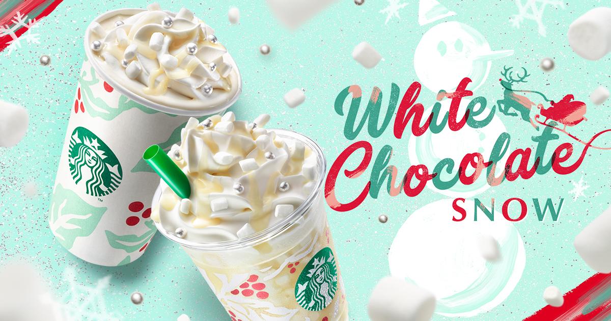 [新商品情報] ホワイト チョコレート スノー フラペチーノ®/ホワイト チョコレート スノー