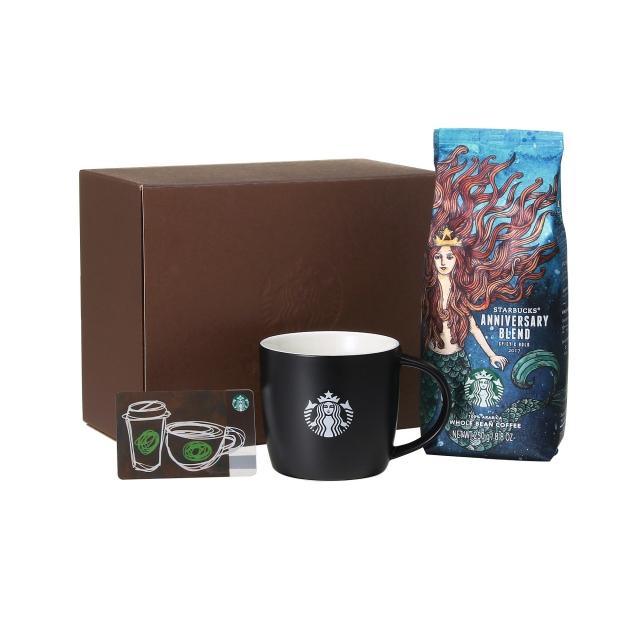 コーヒーギフト スターバックス(R) アニバーサリー ブレンド & ロゴマグブラック (スターバックス カード付)