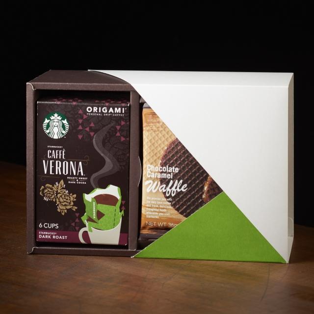 スターバックス オリガミ® カフェ ベロナ & チョコレートキャラメルワッフル アソート