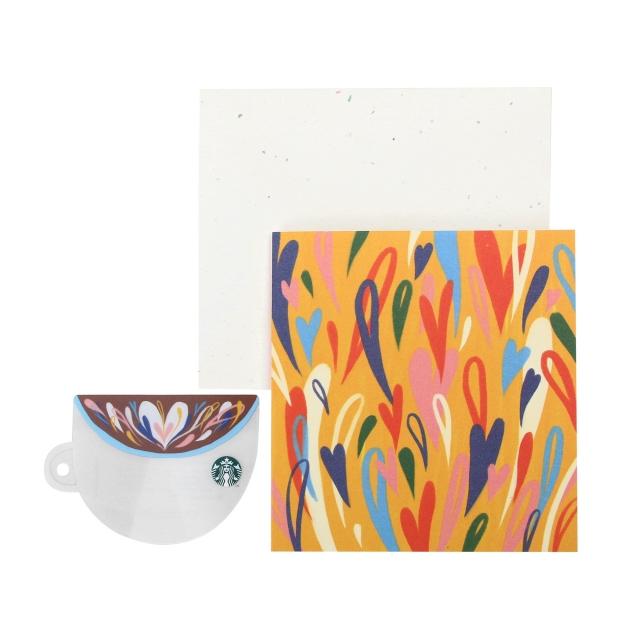 コーヒーカップ グリーティング カード(スターバックス カード付)