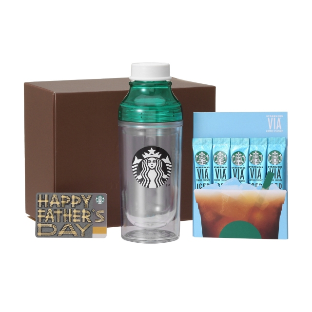 ダブルウォールサニーボトルグリーン & ヴィア アイスコーヒー5本入り (Father's Day カード付)
