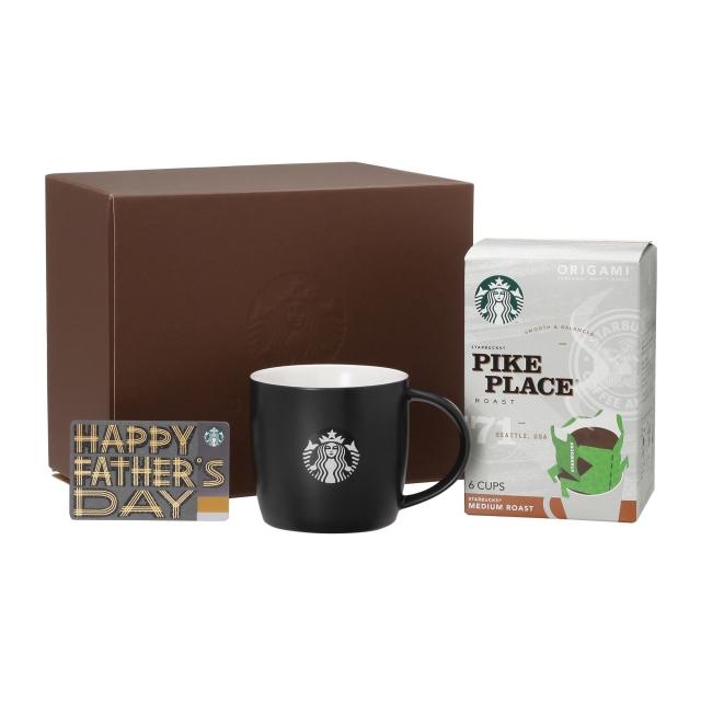 ロゴマグブラック &  スターバックス オリガミ® パイクプレイス® ロースト (Father's Day カード付)