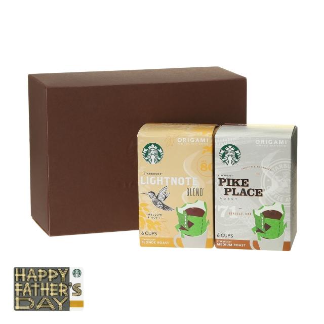 スターバックス オリガミ® ライトノート® ブレンド & パイクプレイス® ロースト (Father's Day カード付)