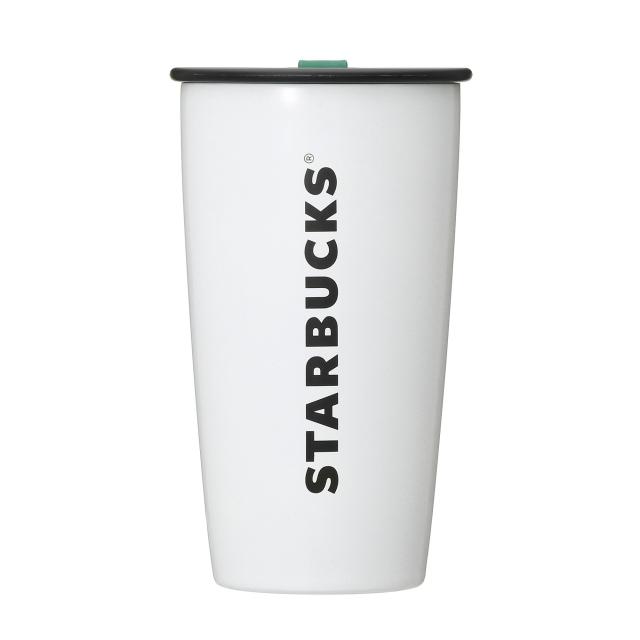 ストラップカップシェイプステンレスボトルホワイト355ml