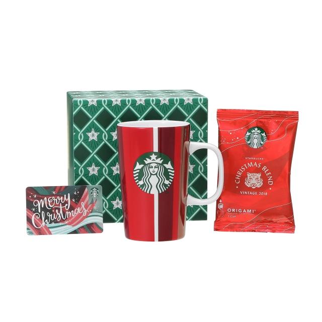 ホリデー2018レッドカップマグ355ml  & スターバックス オリガミ® クリスマス ブレンド (メリークリスマスカード付)