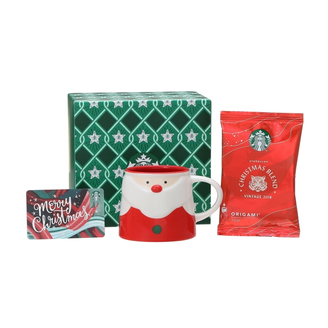 ホリデー2018マグサンタ237ml  & スターバックス オリガミ® クリスマス ブレンド (メリークリスマスカード付)