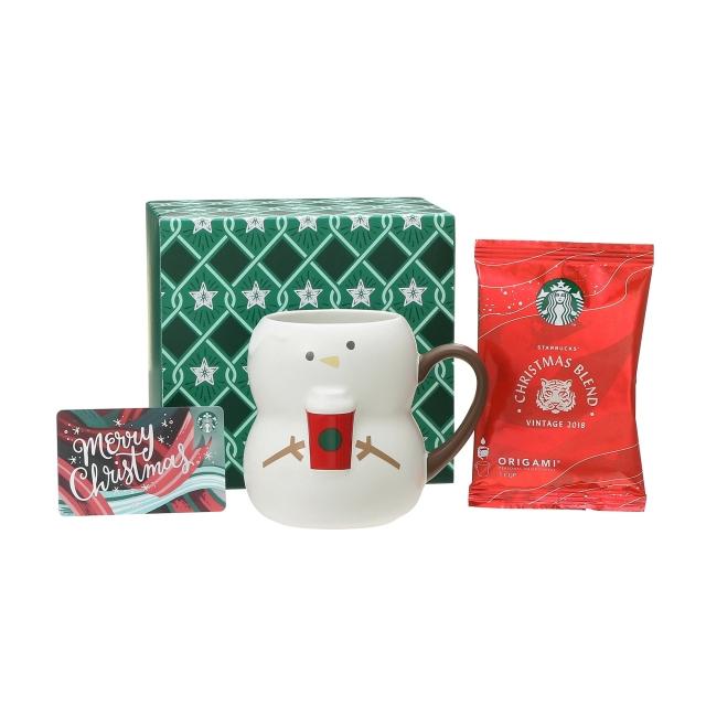 ホリデー2018マグスノーボーイ355ml  & スターバックス オリガミ® クリスマス ブレンド (メリークリスマスカード付)