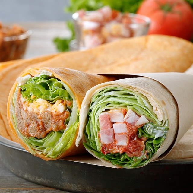 サラダラップ(2種) BLT&チリビーンズ