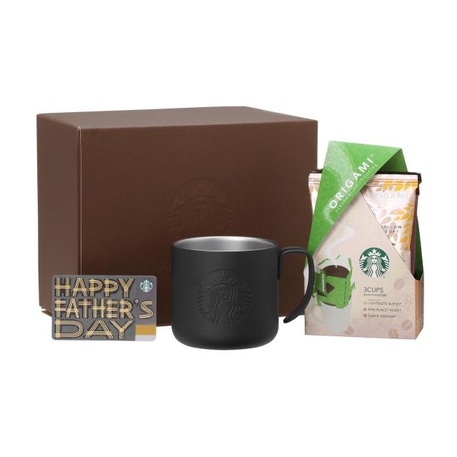 ステンレスマグ マットブラック & オリガミ(R) 3袋入りアソート (Father's Day カード付)