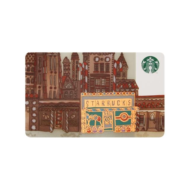 スターバックス カード ジンジャーブレッドハウス