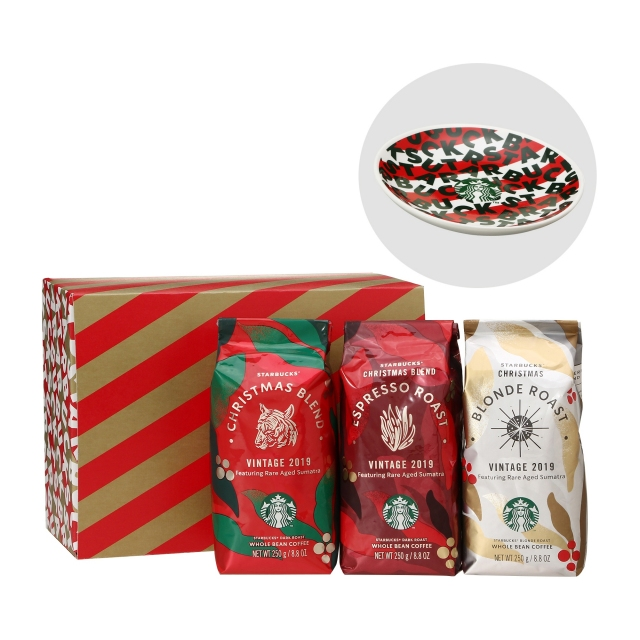 季節のコーヒー豆 [3種詰合せ] (丸小皿付)
