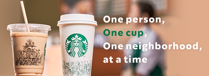 One person, One cup, One neighborhood, at a timed